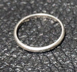 Platinum Wedding Band, Vintage 1940s