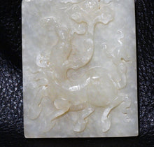 Load image into Gallery viewer, Jade Plaque Pendant, Hetian Mutton Fat Nephrite,  Qing Dynasty  88.3 Grams