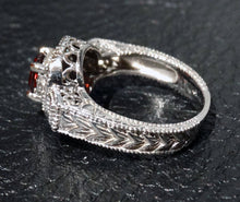 Load image into Gallery viewer, Garnet Diamond 10K White Gold, Art Deco Style, Vintage