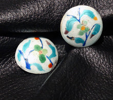Load image into Gallery viewer, Chinese Art Deco Enamel Dress Clips Circa 1920s VERY RARE