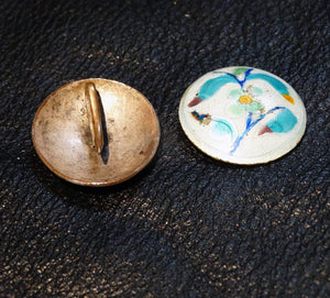 Chinese Art Deco Enamel Dress Clips Circa 1920s VERY RARE