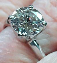 Load image into Gallery viewer, Estate Diamond Ring, GIA Certified, 2.17 Carat Solitaire, 18K White Gold