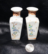Load image into Gallery viewer, Miniature Chinese Vases, Handpainted Porcelain Pair, Vintage 1900
