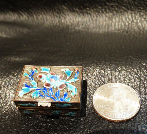 Miniature Enamel Box, Antique Chinese Enamel, Circa 1890-1900