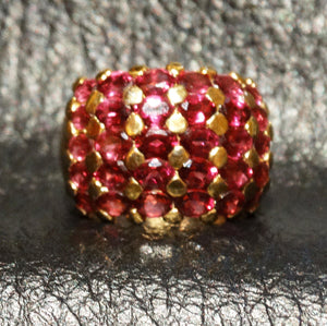 Rhodolite Garnet Dome Ring Sterling Silver