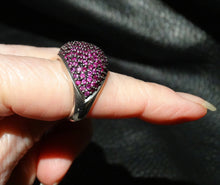 Load image into Gallery viewer, Pink Sapphire Ring, Natural Intense Color, Sterling Silver