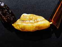 Load image into Gallery viewer, Baltic Amber Necklace, Large Chunks, Butterscotsh, Cognac, Vintage