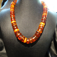 Load image into Gallery viewer, Baltic Amber Necklace, Antique Beads, Butterscotch, Cognac, 99.6 Grams