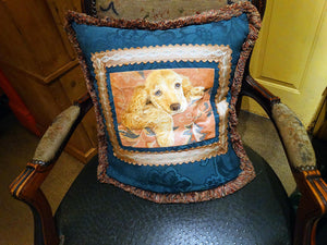 handpainted pillow