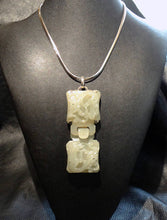 Load image into Gallery viewer, Carved Jade Necklace, Hetian Nephrite Dragon. Qing Dynasty 1800s 94.1 Grams
