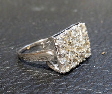 Load image into Gallery viewer, Engagement Wedding Ring, Natural Zircon, Sterling, Vintage 3.65 Carats