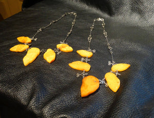 Butterscotch Amber Necklace, Baltic, Completely Natural, 20 Inches