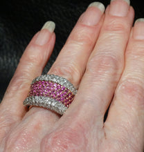 Load image into Gallery viewer, Featured Pink Sapphire  Ring, 18K Gold, Diamonds, 3.22ctw, Wedding, Engagement