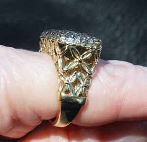 2.50ct Champagne Diamond Ring, Yellow Gold,  Natural Untreated Diamonds, Wedding, Engagement