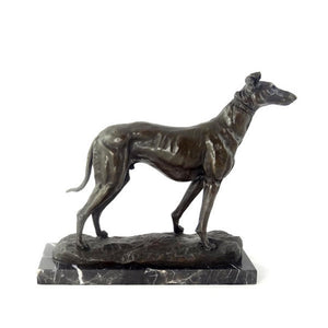 Bronze Greyhound Sculpture Signed Emmanuel Fremiet (1824-1910)