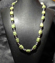 Load image into Gallery viewer, Jade Pearl Necklace, Vintage