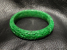 Load image into Gallery viewer, Featured Carved Maw Sit Sit Bangle