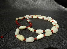 Load image into Gallery viewer, Jade Bead Necklace, Hetian Nephrite, Mutton Fat