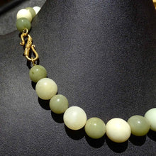 Load image into Gallery viewer, Vintage Necklace, Jade, Fluorite, Pearls, Double Strand