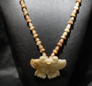 Jade Butterfly Necklace, Qing Dynasty Nephrite