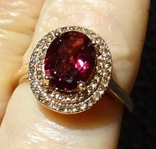 Load image into Gallery viewer, Diamond Rhodolite Ring, Champagne Diamonds, Rose Gold