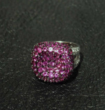 Load image into Gallery viewer, Featured Pink Sapphire Ring, White Diamonds, 4.16 Carats TW, 18K White Gold