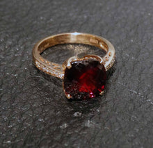 Load image into Gallery viewer, Featured 6.83ctw Rhodolite Diamond Ring, 14K Rose Gold, EFFY