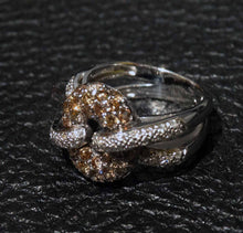 Load image into Gallery viewer, Diamond Knot Ring, 18K White Gold