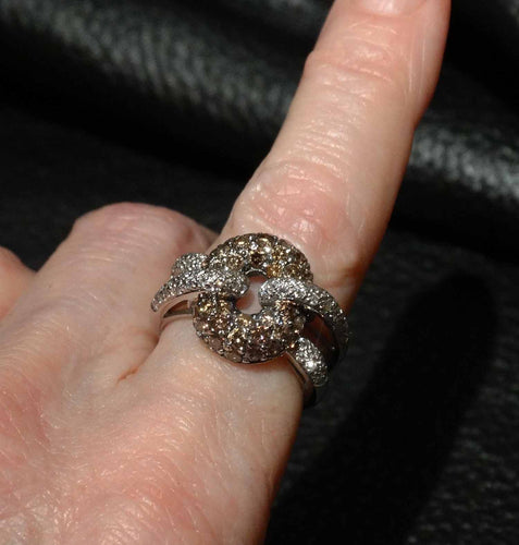 Featured 18K Diamond Knot Ring, Nontraditional Engagement