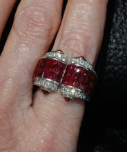 Load image into Gallery viewer, art deco ruby ring