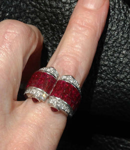 art deco ruby ring