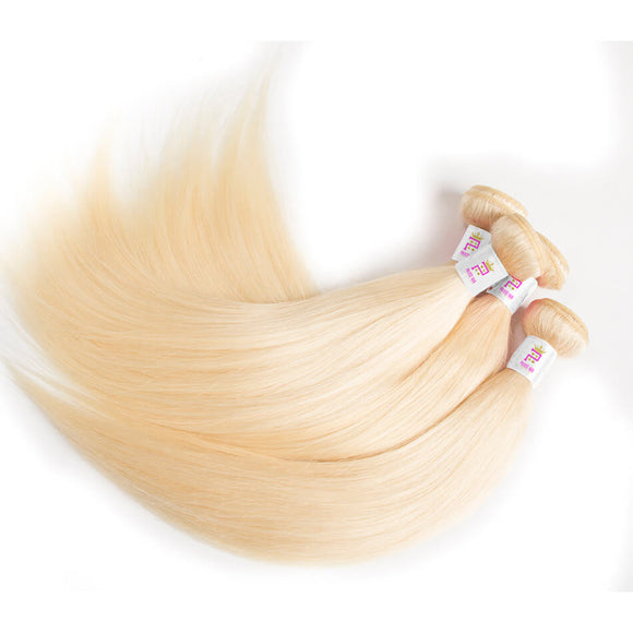 Russian Blonde Straight Virgin Hair | Precise Hair Extensions - Precisehairextensions.com