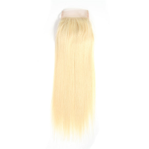 Precise Blonde 613 Straight Lace Closure - Precisehairextensions.com