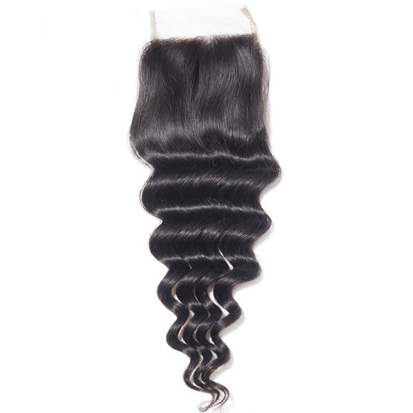 Loose Deep Wave Closure | Precise Hair Extensions - Precisehairextensions.com