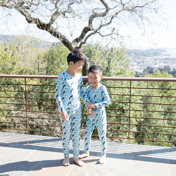 Ocean Blue Sharks Pajama Set (0-24m)