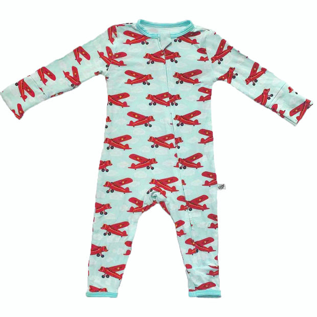 Atlantic Blue Aviator Coverall (0-24m)