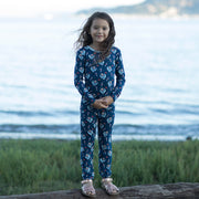 Midnight Blue Astro Sloth Pajama Set (0-24m)