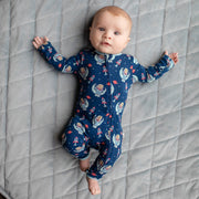 Midnight Blue Astro Sloth Coverall (0-24m)