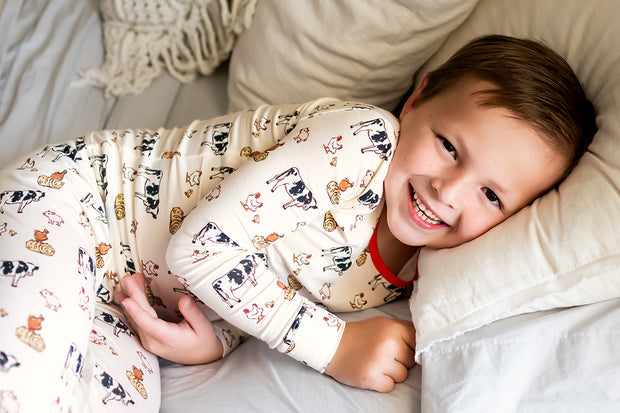 Farm Buddies Long Sleeve Pajama Set (2T-10Y)