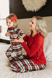 Holiday Plaid Long Sleeve Pajama Set (0-24m)