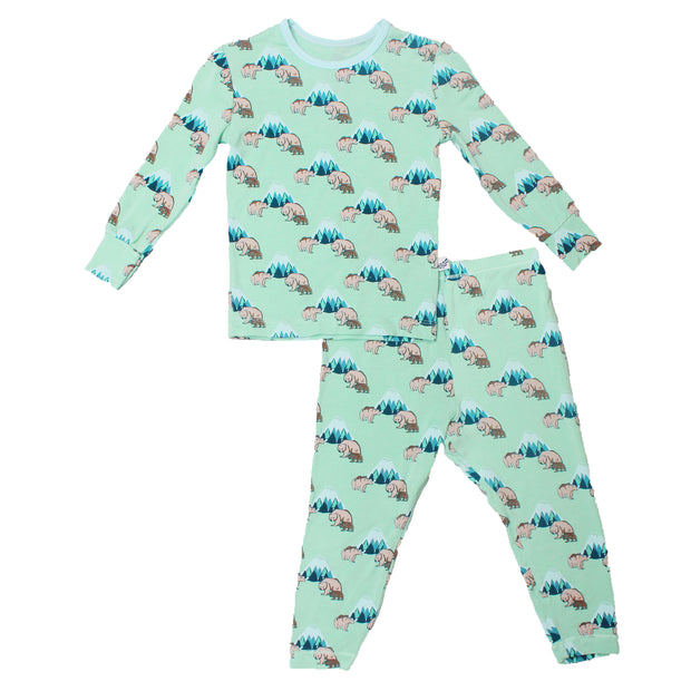 Grass Grizzly Bears Pajama Set (0-24m)