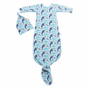 Ocean Blue Sharks Newborn Set (0-3M)