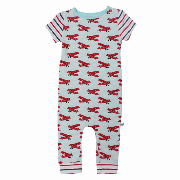 Atlantic Blue Aviator Romper (2T-3T)