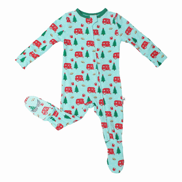 Holiday Airstream & S'mores Footie (2T-3T)