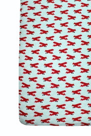 Atlantic Blue Aviator Crib Sheets