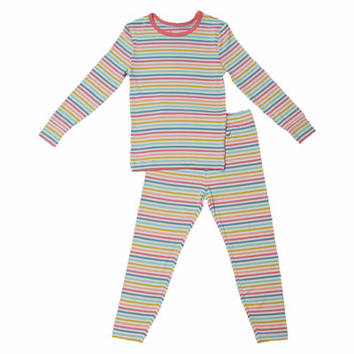 Rainbow Stripe Long Sleeve Pajama Set (0-24m)