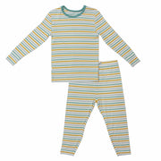 Dinosaurs-Rawr Stripe Long Sleeve Pajama Set (0-24m)