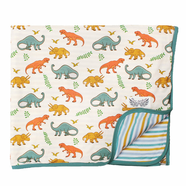 Cloud Dinosaurs-Rawr Toddler Blanket