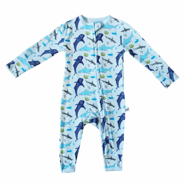 Ocean Blue Sharks Coverall (2T-3T)