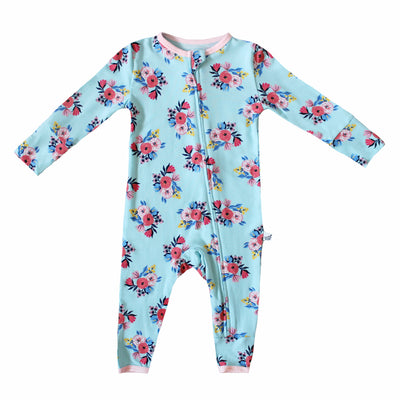 Azure Floral Coverall (0-24m)